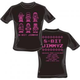 JIMMYZ Tシャツ (8-BIT JIMMYZ)黒