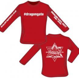 #dragongate ハッシュタグ 長袖ロングTシャツ 2017モデル(赤)