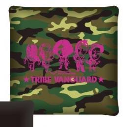 TRIBE VANGARDスクウェアクッション(ピンクキャラロゴ)